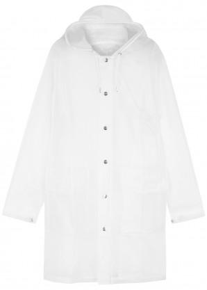 Rains Frosted white rubberised raincoat