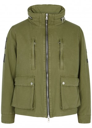 Amiri Army green twill jacket