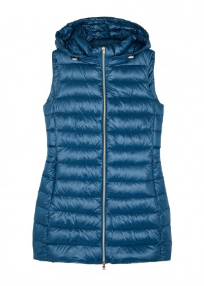Blue quilted shell gilet