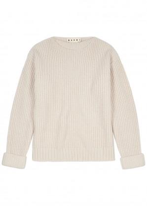 Marni Beige wool-blend jumper