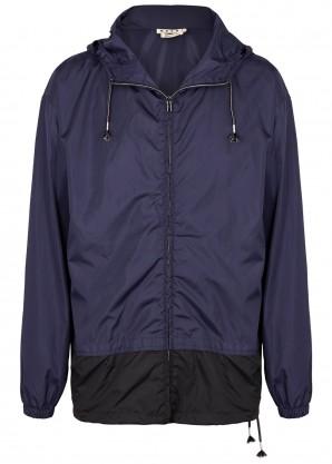 Marni Navy nylon shell jacket