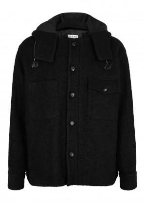 Marni Black wool-blend bouclé jacket