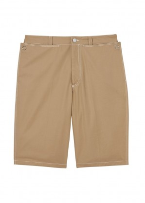 Burberry Pocket detail cotton tailored shorts