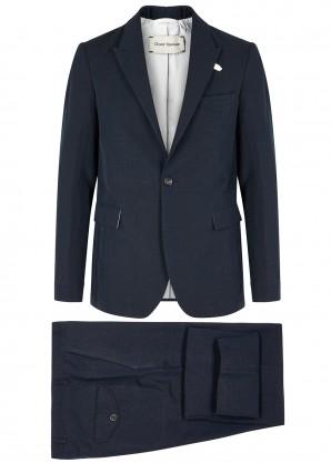 Oliver Spencer Navy cotton-blend suit