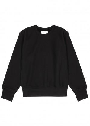 Les Tien Black cotton-jersey sweatshirt