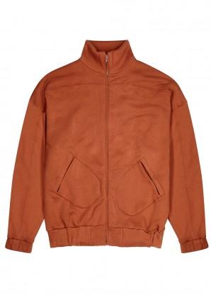 Les Tien Rust cotton-jersey sweatshirt