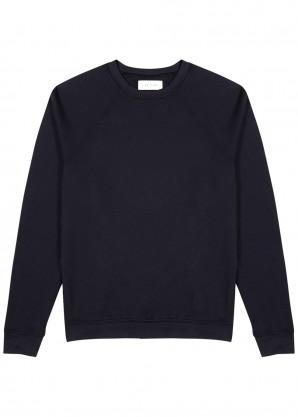 Les Tien Navy cotton-jersey top