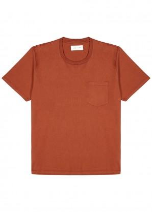 Les Tien Rust cotton T-shirt