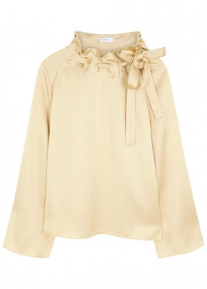 Rosetta Getty Champagne satin top