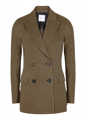 Rosetta Getty Houndstooth double-breasted blazer