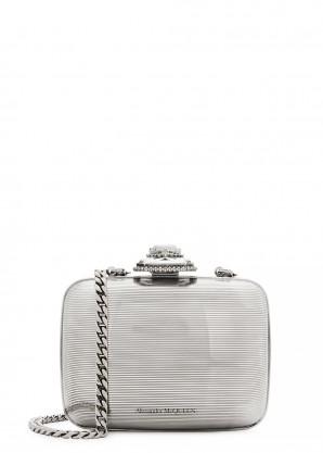 Silver-tone mini cross-body bag