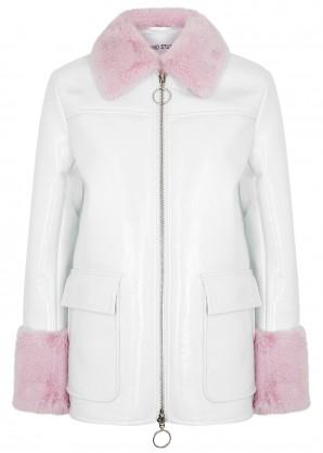 Jayden white PVC jacket