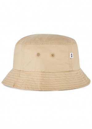 Taupe cotton twill bucket hat