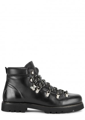 Benny black leather boots