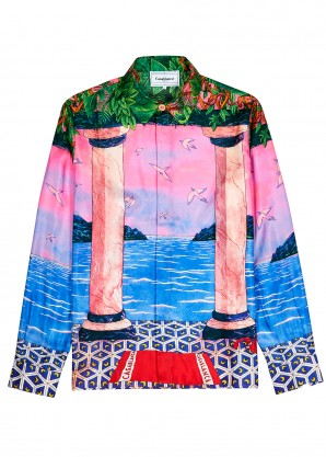CASABLANCA Moca Sunset printed silk shirt
