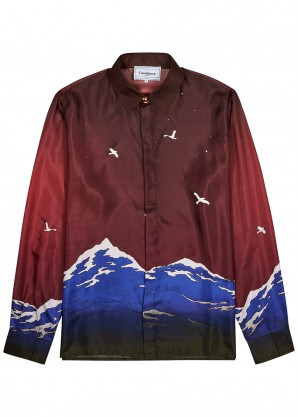 CASABLANCA Le Port De Casablanca printed silk shirt