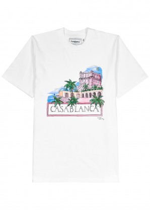 CASABLANCA Maison printed cotton T-shirt