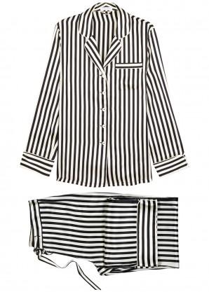Olivia von Halle Lila Nika striped silk pyjama set