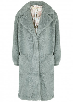 Free People Tessa dusty blue faux shearling coat