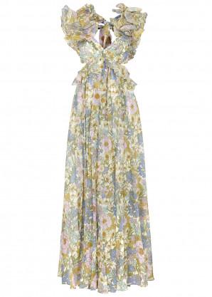 Zimmermann Super Eight floral-print ruffled gown