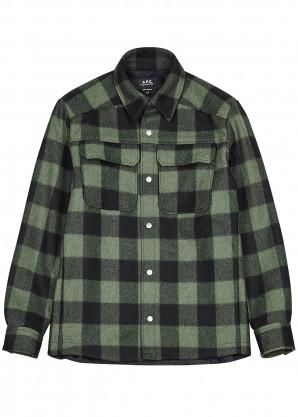 A.P.C. Adrien plaid wool-blend jacket
