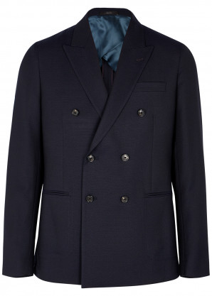 Paul Smith Navy double-breasted wool blazer
