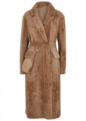 Anne Vest Diana caramel reversible shearling coat