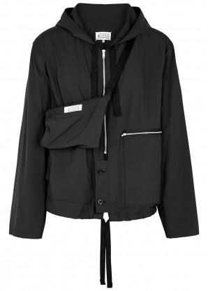 Maison Margiela Black hooded shell jacket