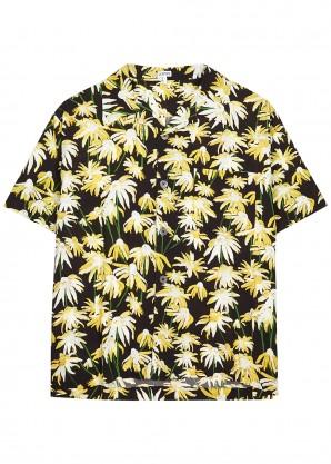 Loewe Daist-print brushed-viscose shirt