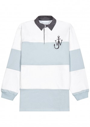 JW Anderson Blue and white cotton polo shirt