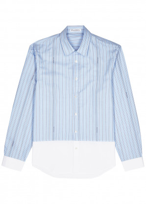 JW Anderson Blue striped cotton shirt