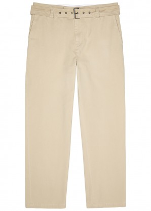 JW Anderson Camel belted cotton chinos