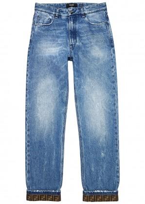 Fendi Blue straight-leg jeans