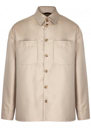Fendi Stone satin-twill jacket