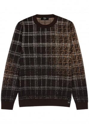 Fendi FF logo-intarsia wool jumper