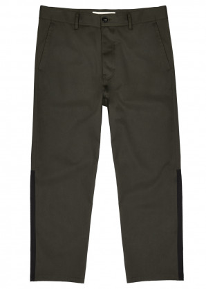 Marni Dark green twill trousers