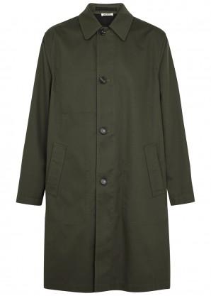 Marni Dark green twill coat