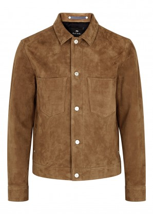 PS by Paul Smith Rider brown suede jacket