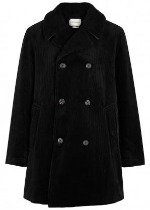 Oliver Spencer Newington black corduroy coat