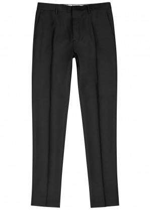 Dsquared2 Black slim-leg wool-blend trousers