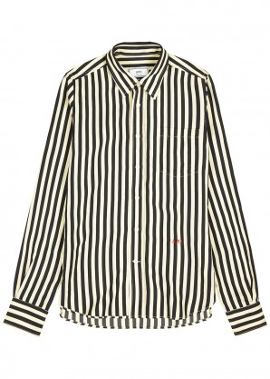 AMI Monochrome striped shirt