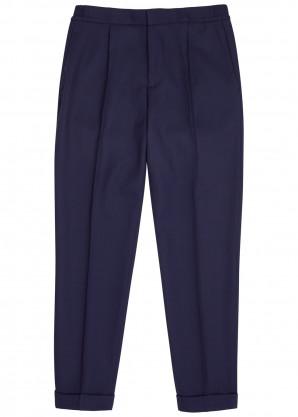 J.Lindeberg Sasha navy wool-twill trousers
