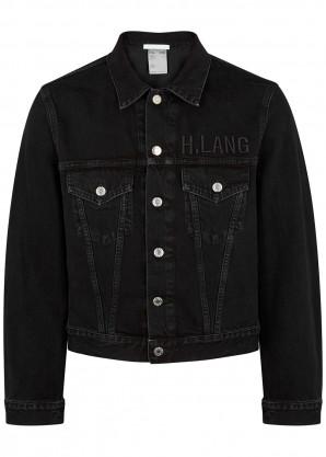 Helmut Lang Black cropped denim jacket