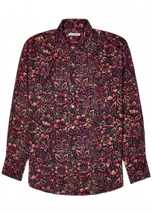 Our Legacy Coco 70's floral-print corduroy shirt