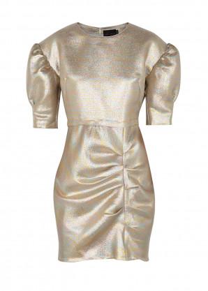 Birgitte Herskind Baker puff-sleeve lamé mini dress