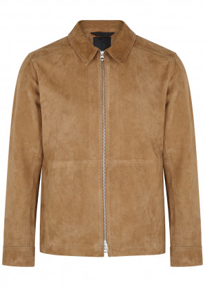 J.Lindeberg Jonah brown suede jacket