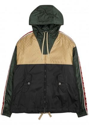 Gucci Panelled logo shell jacket