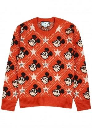 Gucci X Disney Mickey Mouse-intarsia wool-blend jumper