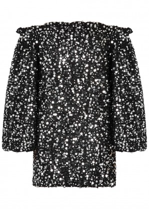 ROTATE Birger Christensen Gloria sequin-embellished lamé mini dress