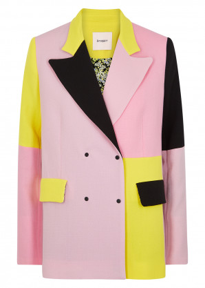 Brøgger Gurli colour-block wool blazer